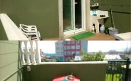 1 Partimos de una terraza sencilla: por un lado la cocina y por otro las escaleras de acceso a un jardín.