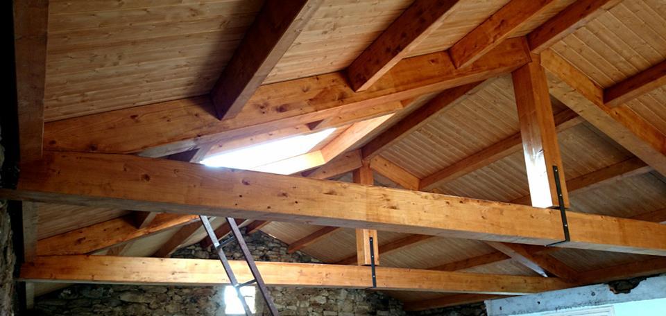 Nueva cubierta con estructura de madera - Estructura tejado madera ...