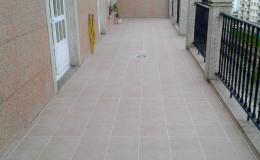 12 Aspecto final en seco de una de las terrazas en Burela.
