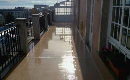 13 Aspecto final en mojado de una de las terrazas en Burela.