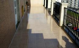 14 Aspecto final en mojado de una de las terrazas en Burela.