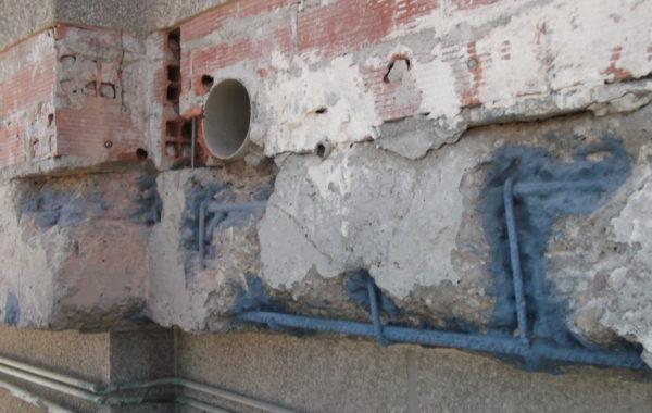 Reparación y anclajes en fachada.
