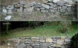 1- ANTES-DESPUES murete de jardín