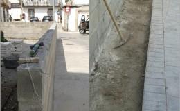 8 Trazamos nuevas líneas y retiramos en las jardineras el antiguo riego y escombros.