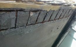 O1 Aspecto de la estructura antes de reparar.