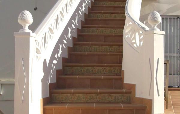 Terraza rústica en cerámica de barro