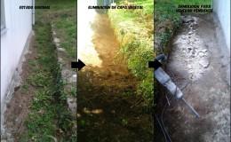 1 Creación de pendientes naturales para el agua de lluvia.