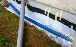 4 Geotextil+tubo de drenaje+lámina drenante.