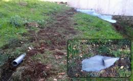 7 Reubicación de la salida de pluviales a una distancia prudente de la casa.