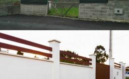 11 Antes y después de cerramiento principal.