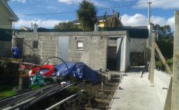 7 Construcción de módulo de jardín en progreso.