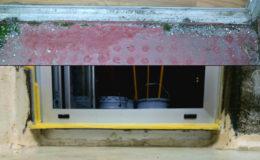 8 elevación del encuentro de la impermeabilización y sustitución de carpintería en fachada para evitar condensaciones