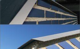 5 Detalle de remates con aluminio anodizado.