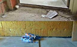 2 El suelo de este bajo se sitúa a -13 cm. respecto a la entrada. Por ahorro en material del nuevo suelo, se harán 2 niveles: en la mayoría del bajo rellenaremos menos que en su zona de fachada.