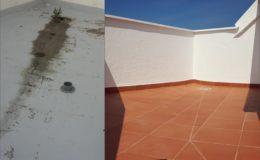 17 Comparación antes-después en la terraza pequeña
