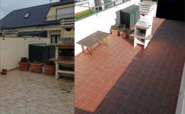 18 Comparación antes-después en la terraza grande