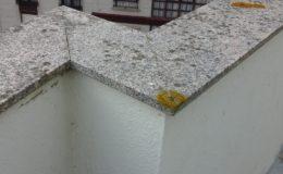 5 Estado anterior de los cubremuros en la terraza más pequeña